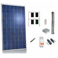 Kit solar Bombeo 750w / 1cv Caudal max. 3200 Litros/hora Altura 80 metros