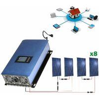 Kit solar 2000wh Autoconsumo Inyección a RED