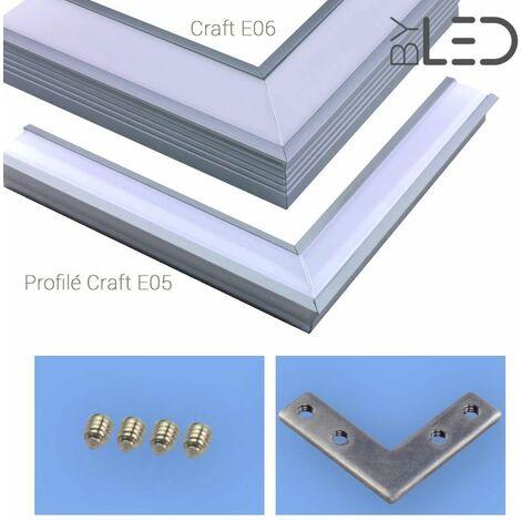 Connexion d'angle à plat pour profilé LED - encastrable