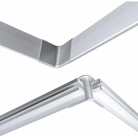Angle entrant pour profilé LED aluminium corniche 2 directions M04