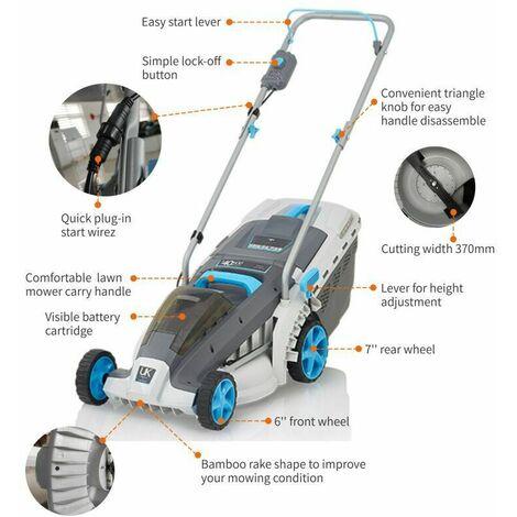 (plus kit) Swift 40V 37cm Cordless wide+ battery Lawn Mower