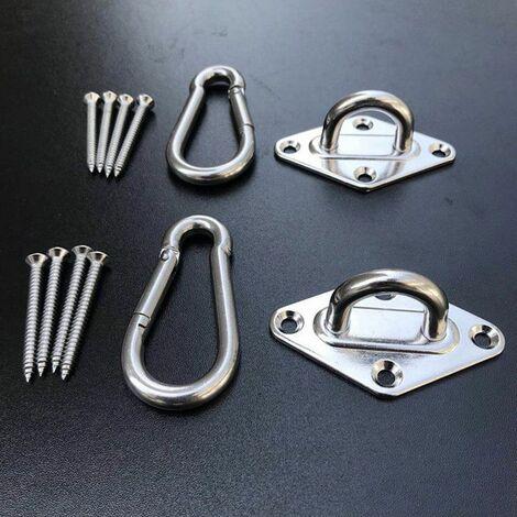 Ensemble de suspension pour hamac Crochet et anneau de crochet pour hamac
