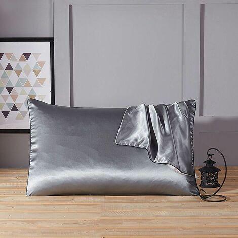 La taie d'oreiller en soie pure de mûrier doux couvre la beauté anti-âge de soie 1pc grise - grise