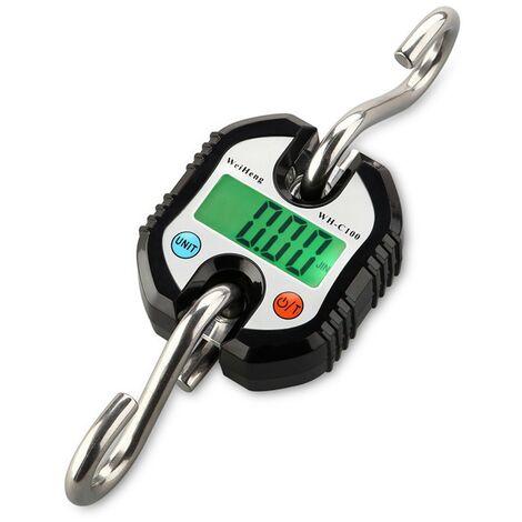 Charge maximale 150kg de balance suspendue numérique portative d'affichage à LED Noir - Noir
