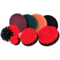 Drill Brush Tampons à récurer Kit de nettoyage Power Scrubber 8 pièces Nettoyant tout usage