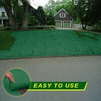 20 × 1000cm tapis de semences d'herbe engrais jardin pique-nique jardinage tapis de plantation de pelouse