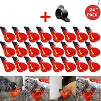 24 pièces d'alimentation automatique Bird Coop volaille poulet volaille abreuvoir