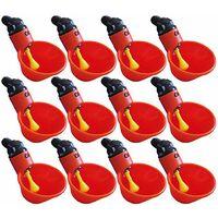 Alimenter les tasses à boire de l'eau de buveur de volaille de poulet de volaille de poulailler automatique 12pcs