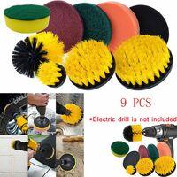 Drill Brush Scrub Pads Kit de nettoyage Power Scrubber 8 pièces