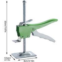Niveau de mur de localisateur de précision de régulateur de hauteur de tuile de système de nivellement de tuile tenu dans la main Vert