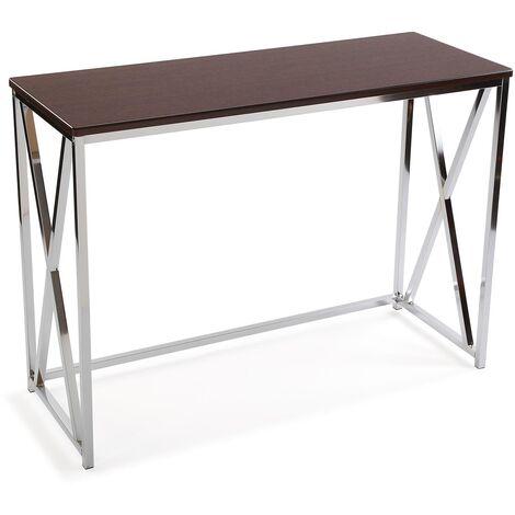 Versa Modena Mueble Recibidor Estrecho, Mesa Consola, 76x40,5x106,5cm - Marrón