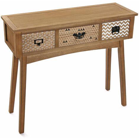 Versa Pavia Mueble Recibidor Estrecho, Mesa Consola, 80,5x30x90cm - Marrón