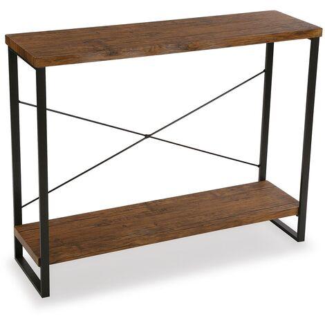 Versa Taline Mueble Recibidor Estrecho, Mesa Consola, 80x30x100cm - Negro