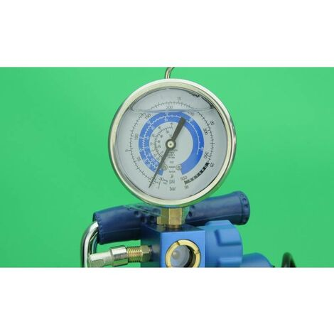 Kit de charge Pompe à vide + analyseur climatisation R134, R404, R410A, R22