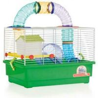 Jaula Hamster Cria Blanca - 2 Pisos con TUBOS