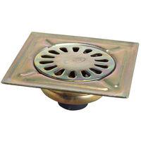 Sumidero Acero Bicromatado 150x150 mm. Toma de 40 mm.