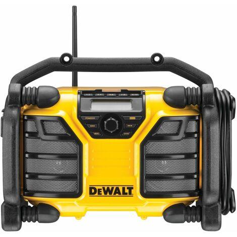 Dewalt DCR017-QW Radio DAB+ y Cargador XR con cable o baterías 10.8V, 14.4V y 18V XR Li-Ion