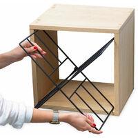 Cube Range-bouteilles empilable - Bois Naturel