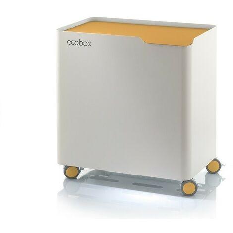 DON HIERRO - Poubelle design tri sélectif avec système de fermeture douce, ECOBOX. - Ocre