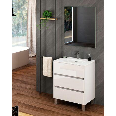 Mueble + lavabo Escorpio Al Suelo   Mueble + Lavabo - No - 60 cm - Roble Natural