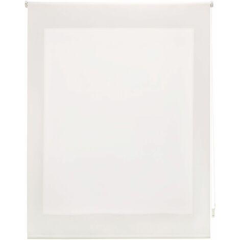 Estor enrollable translúcido liso crudo 120x250 cm (ancho x alto)