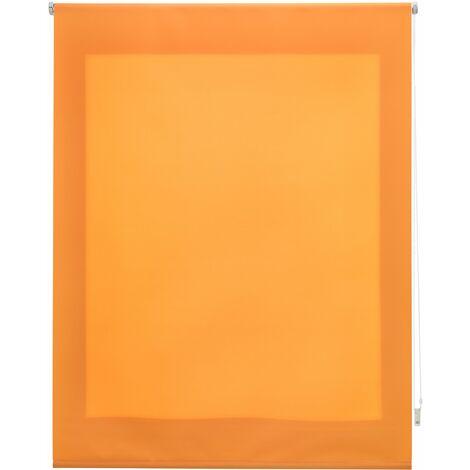 Estor enrollable translúcido liso naranja 100x175 cm (ancho x alto)