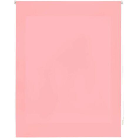 Estor enrollable translúcido liso rosa 160x175 cm (ancho x alto)