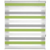 Bohem- Estor Noche y Día tricolor, 120x180cm (ancho x alto), color pistacho, gris y blanco