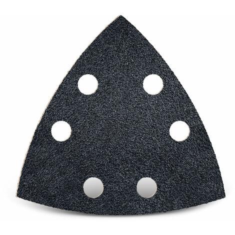 25 feuilles abrasives auto-agrippantes MENZER p. ponceuses delta, 93 mm / 6 trous / G36 / Carbure de silicium