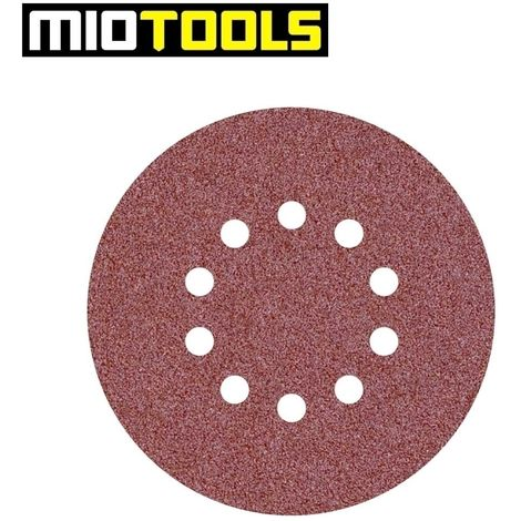 10 disques abrasifs auto-agrippants   p. ponceuses girafes, Ø 225 mm / 10 trous / G16 / Corindon normal