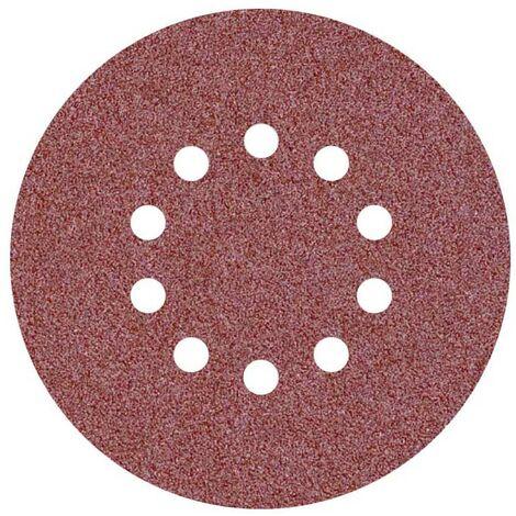 10 disques abrasifs auto-agrippants p. ponceuses girafes, Ø 225 mm / 10 trous / G36 / Corindon normal