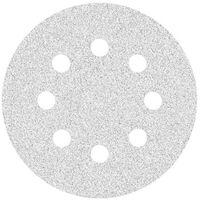 50 disques abrasifs auto-agrippants p. ponceuses excentriques, Ø 125 mm / 8 trous / G400 / Corindon normal avec stéarate