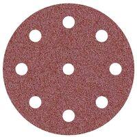 25 disques abrasifs auto-agrippants p. ponceuses excentriques, Ø 125 mm / 9 trous / G36 / Corindon normal