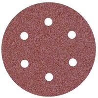 25 disques abrasifs auto-agrippants p. ponceuses excentriques, Ø 150 mm / 6 trous / G36 / Corindon normal