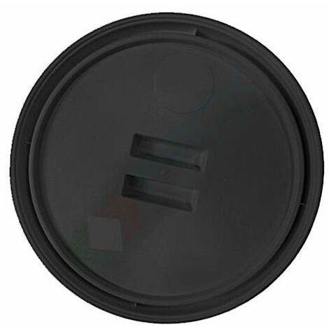 Coperchio in plastica (PP), nero, chiusura a pressione per secchio conico 60 Lt (BIS060NAT)