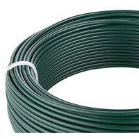 Amagabeli 2.75MM X 50M X 4PCS Fil de Tension Rouleau de Fil de Fer Métallique Vert Enduit de PVC de Métal Revêtu de Plastifié Vert pour Clôture de Jardin Jardinage WR3