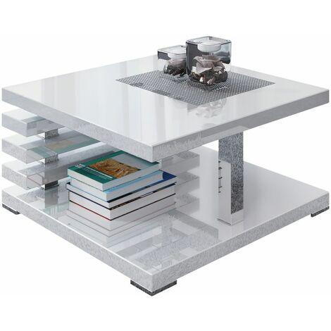 Selsey Ariene - Banco / Mesa de centro - 60x60 cm - blanco brillo - moderno