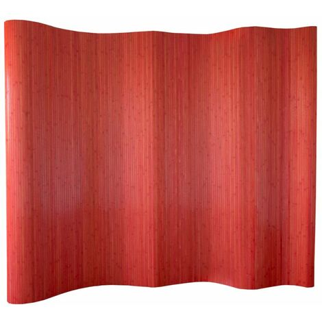 Biombo bambú rojo 200 x 250 cm