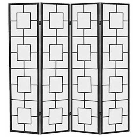Biombo Kwai - Negro / 4 paneles