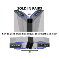 Magnetic Shower Seal for Screens or Doors   Fits 10, 11 or 12mm Glass   Sold as Pairs   MAG016 (200cm)