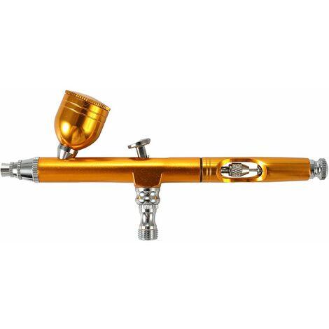 Perle rare Modèle de pistolet de pulvérisation de peinture en aérosol de pompe à air d'aérographe or, pompe à air d'aérographe, outils de peinture murale, outils de réparation de meubles, outils de fabrication de gâteaux