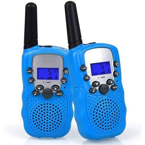 Perle rare Talkie-walkie pour enfants 2 convient uniquement aux garçons et s de 3 à 12 ans radio bidirectionnelle à 3 miles de portée cadeau de Noël bleu B