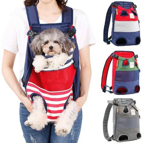 Perle rare Sac à dos pour chien - un sac à dos pour animaux de compagnie avec les pattes tournées vers l'avant, adapté aux chiens de petite et moyenne taille, sacs de voyage mains libres pour chats, approuvés par les compagnies aériennes et motocyclistes.