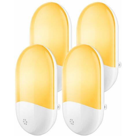 Perle rare Petite veilleuse 4 pièces ensemble couloir de chambre à coucher veilleuse intelligente de contrôle de la lumière enfichable