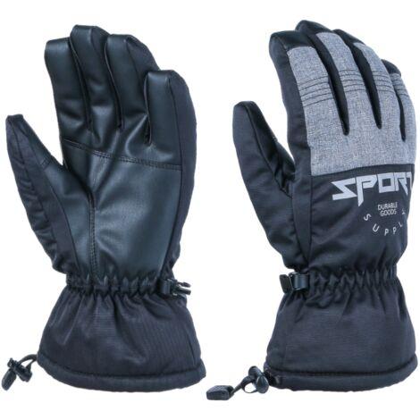 Perle rare Gants chauds gants d'extérieur gants de ski alpinisme cyclisme gants de fitness mitaines à cinq doigts XL