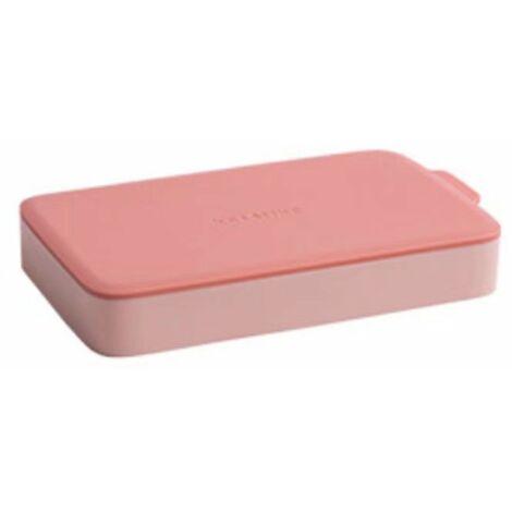 Perle rare Bac à glace en silicone avec couvercle pour faire du hockey sur glace fait maison petit réfrigérateur à congélateur rapide pour réfrigérateur congelé moule à glaçons (rouge)