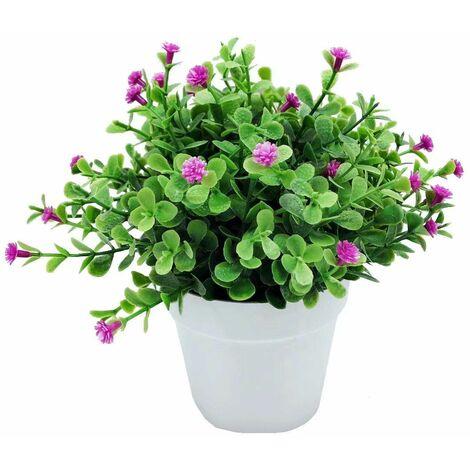 Perle rare Plantes artificielles, fausses fleurs, orchidées de simulation, plantes en pot d'eucalyptus, plantes vertes, décoration de la maison, décoration de fenêtre, petites plantes en pot de fleurs (couleur lotus)