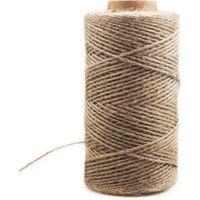 Perle rare Corde de chanvre décoratif 4mm (100M corde de chanvre décoratif corde de sisal épaisseur rétro corde de jute fait à la main bricolage tag corde éclairage corde de chanvre corde de griffe de chat
