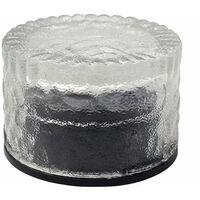 Perle rare Solaire rond en brique de glace en verre de carreaux de sol lumière cour extérieure enterrée lumière solaire lumière de jardin