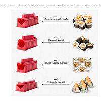 Perle rare Ensemble d'outils de sushi, tapis de sushi, baguettes, cuillère à riz, accessoires de cuisine, moules de cuisine, fournitures de cuisine, blanc